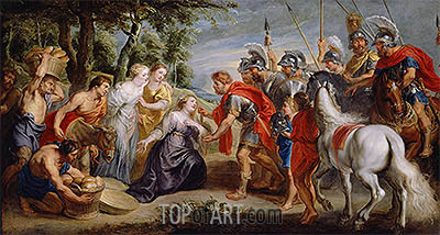 David Meeting Abigail, c.1620 | Rubens| Painting Reproduction