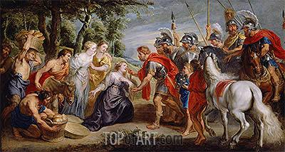 David Meeting Abigail, c.1620 | Rubens | Painting Reproduction