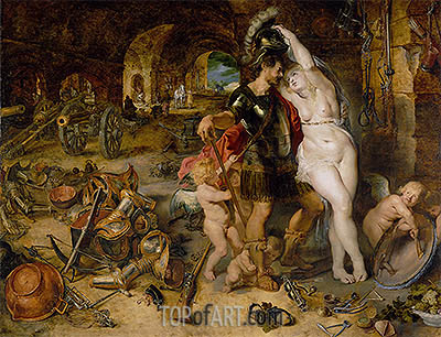 The Return from War (Mars Disarmed by Venus), c.1610/12 | Rubens | Gemälde Reproduktion