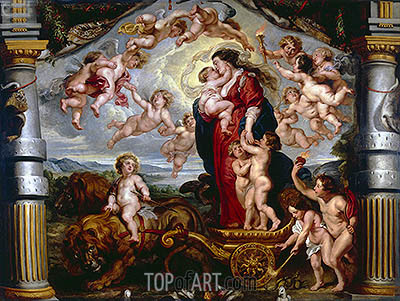 The Triumph of Divine Love, c.1625 | Rubens | Gemälde Reproduktion