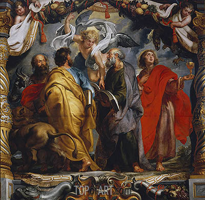 The Four Evangelists, c.1625 | Rubens| Painting Reproduction