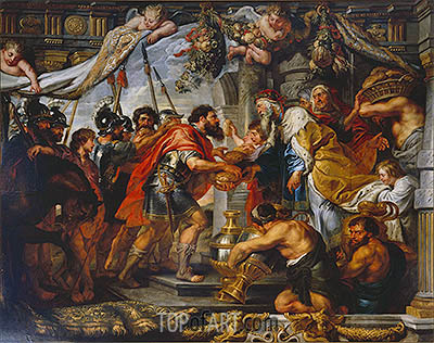 The Meeting of Abraham and Melchizedek, c.1625 | Rubens| Gemälde Reproduktion