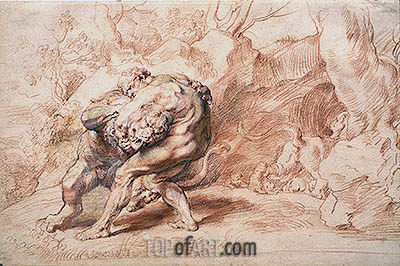 Hercules Strangling the Nemean Lion, c.1620 | Rubens| Painting Reproduction