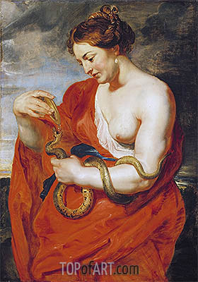 Hygeia, Goddess of Health, c.1615 | Rubens | Gemälde Reproduktion
