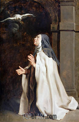 Teresa of Avila's Vision of the Dove, c.1614 | Rubens | Painting Reproduction