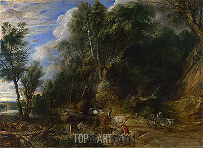 The Watering Place, c.1615/22 | Rubens | Gemälde Reproduktion