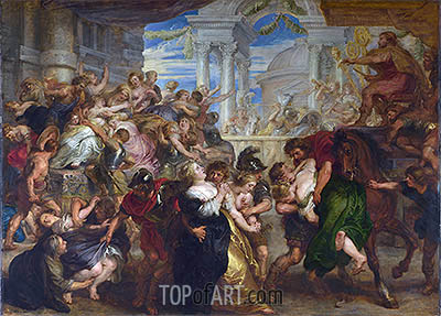 The Rape of the Sabine Women, c.1635/40 | Rubens| Painting Reproduction