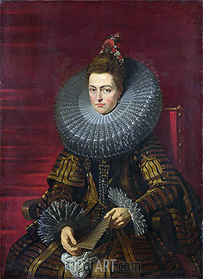 Portrait of the Infanta Isabella, c.1615 | Rubens | Painting Reproduction