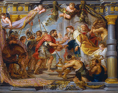 The Meeting of Abraham and Melchizedek, c.1626 | Rubens | Gemälde Reproduktion
