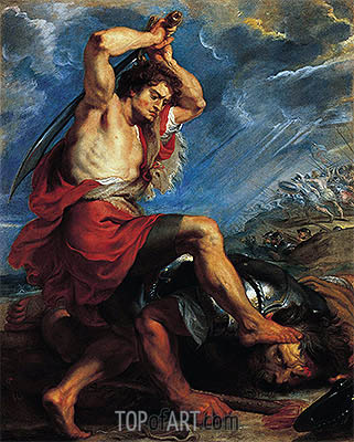 David Slaying Goliath, c.1616 | Rubens | Gemälde Reproduktion