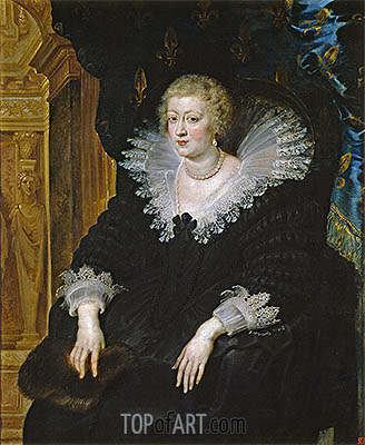 Ana of Austria, Wife of Louis XIII, c.1622 | Rubens | Painting Reproduction