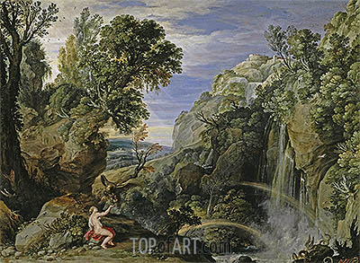 Landscape with Psyche and Jupiter, c.1610 | Rubens | Painting Reproduction