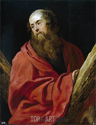 Saint Andrew, c.1611 | Rubens| Painting Reproduction