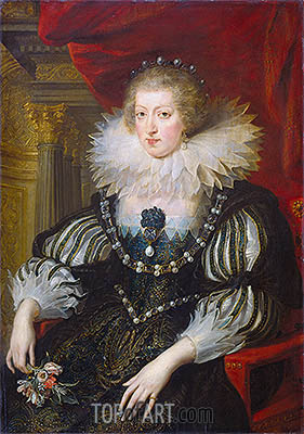 Anne of Austria, c.1624 | Rubens | Painting Reproduction