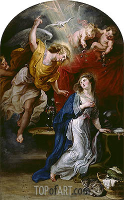 The Annunciation, undated | Rubens| Painting Reproduction