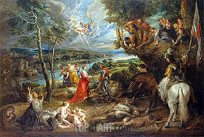 Landscape with St George and the Dragon, 1635 | Rubens | Painting Reproduction