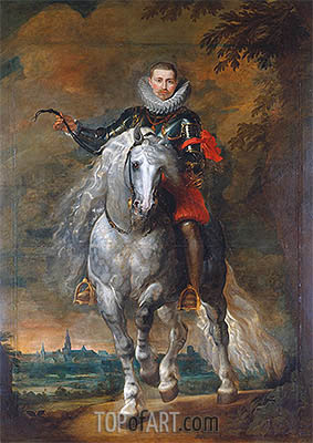 Portrait of Don Rodrigo Calderon on Horseback, c.1612/15 | Rubens| Painting Reproduction