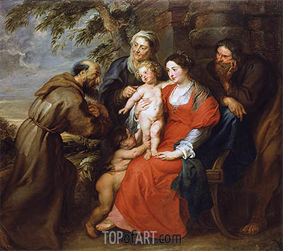 Rubens | The Holy Family with Saint Francis, c.1630