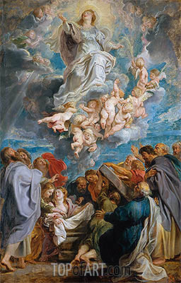 The Assumption of the Virgin, c.1611/12 | Rubens| Painting Reproduction