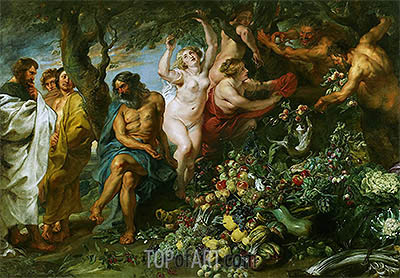 Pythagoras Advocating Vegetarianism, c.1618/30 | Rubens | Painting Reproduction