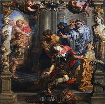 Death of Achilles, c.1630/35 | Rubens | Painting Reproduction