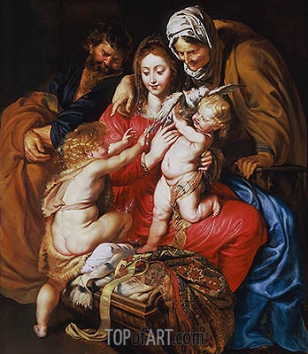 Rubens | The Holy Family with St. Elizabeth, St. John and a Dove, c.1609