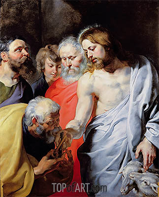 Christ's Charge to Peter, c.1616 | Rubens | Painting Reproduction