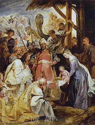 The Adoration of the Magi, c.1624 | Rubens | Painting Reproduction