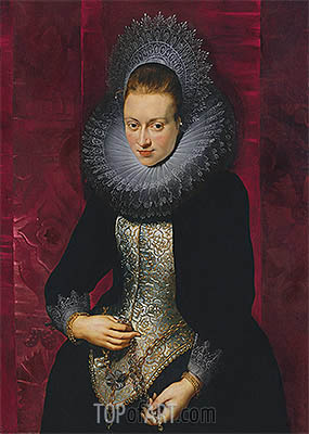 Portrait of a Young Woman with a Rosary, c.1609/10 | Rubens | Painting Reproduction