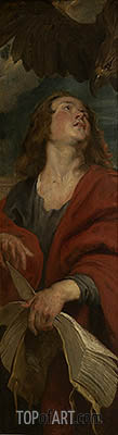 John the Evangelist (Right Panel of Christ in the Straw), c.1618 | Rubens| Painting Reproduction
