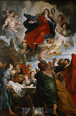 The Assumption of the Virgin Mary, c.1616/18 | Rubens| Painting Reproduction