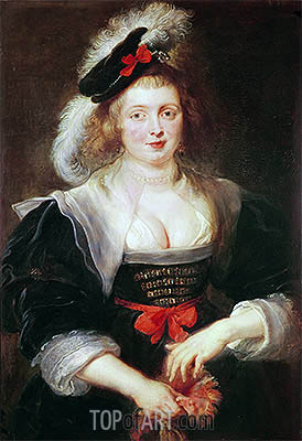 Portrait of Helene Fourment with Gloves, c.1632 | Rubens| Painting Reproduction
