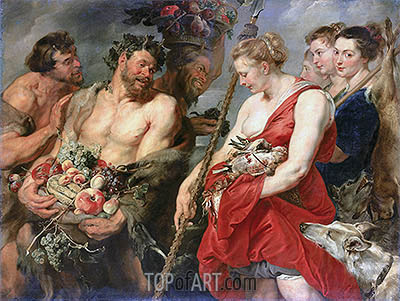 Diana Returning from the Hunt, c.1616 | Rubens | Painting Reproduction