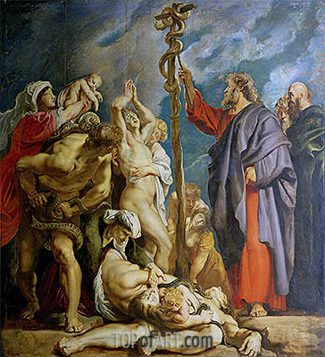 Moses and the Brazen Serpent, c.1609/10 | Rubens | Painting Reproduction