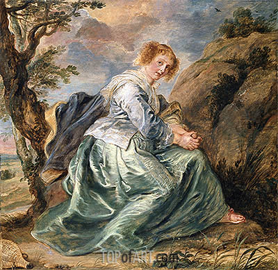 Hagar in the Desert, a.1630 | Rubens | Painting Reproduction