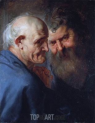 Two Apostles, undated | Rubens | Painting Reproduction