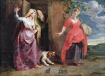 The Expulsion of Hagar, undated | Rubens | Painting Reproduction