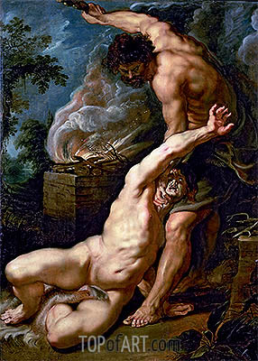 Cain Slaying Abel, c.1608/09 | Rubens| Painting Reproduction