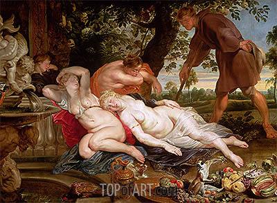 Cimon und Efigenia, c.1617 | Rubens | Gemälde Reproduktion