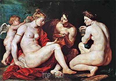 Venus, Cupid, Bacchus and Ceres, c.1613 | Rubens | Gemälde Reproduktion