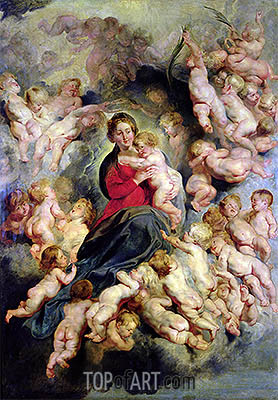The Virgin and Child Surrounded by the Holy Innocents (The Virgin with Angels), 1618 | Rubens| Painting Reproduction