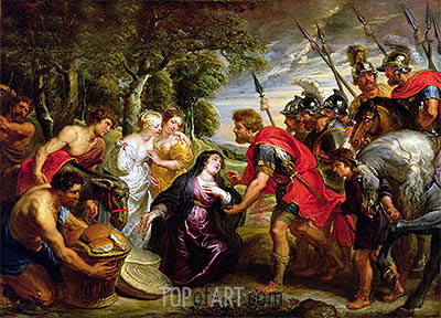 The Meeting of David and Abigail, c.1625/28 | Rubens | Gemälde Reproduktion