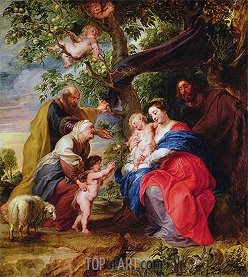 The Holy Family under an Apple Tree, c.1632 | Rubens | Gemälde Reproduktion