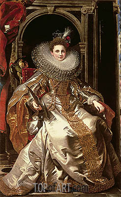 Portrait of Marchesa Maria Serra Pallavicino, 1606 | Rubens | Painting Reproduction
