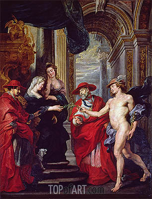 The Treaty of Angouleme (The Medici Cycle), c.1621/25 | Rubens| Gemälde Reproduktion