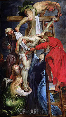 The Descent from the Cross, c.1614/15 | Rubens| Gemälde Reproduktion
