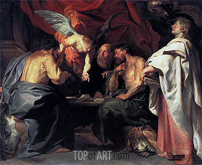 The Four Evangelists, c.1614 | Rubens | Painting Reproduction