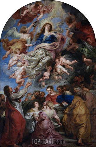 Assumption of the Virgin, b.1640 | Rubens | Gemälde Reproduktion