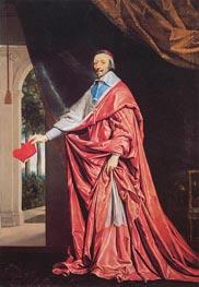 Portrait of Cardinal Richelieu, c.1635/40 by Philippe de Champaigne | Painting Reproduction