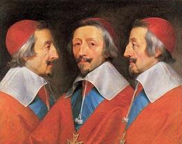 Triple Portrait of Cardinal Richelieu, 1642 by Philippe de Champaigne | Painting Reproduction